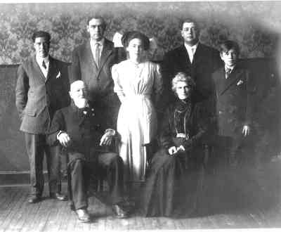 Seated In Front Are The Parents Andrew Skidmore Schriver And Martha Alida Wiltsie